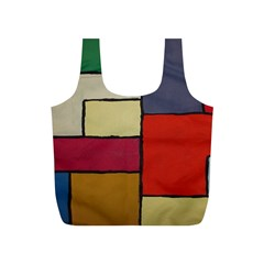 Color Block Art Painting Full Print Recycle Bags (s)  by goodart