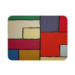 Color Block Art Painting Double Sided Flano Blanket (mini)  by goodart