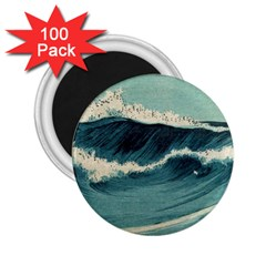Waves Painting 2 25  Magnets (100 Pack)  by goodart