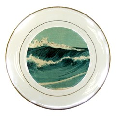 Waves Painting Porcelain Plates by goodart