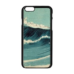 Waves Painting Apple Iphone 6/6s Black Enamel Case by goodart