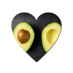 Fruit Avocado Heart Magnet by goodart