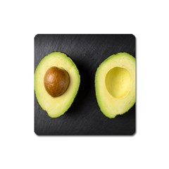 Fruit Avocado Square Magnet by goodart