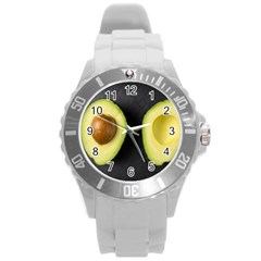 Fruit Avocado Round Plastic Sport Watch (l) by goodart