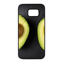 Fruit Avocado Samsung Galaxy S7 Edge Black Seamless Case