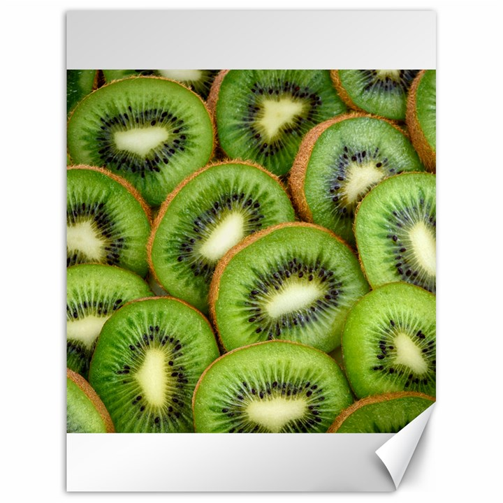 Sliced And Open Kiwi Fruit Canvas 18  x 24
