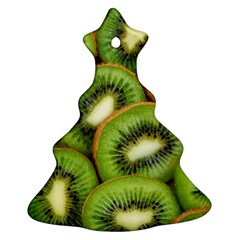 Sliced And Open Kiwi Fruit Christmas Tree Ornament (two Sides) by goodart