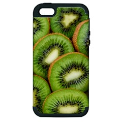 Sliced And Open Kiwi Fruit Apple Iphone 5 Hardshell Case (pc+silicone) by goodart