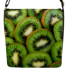 Sliced And Open Kiwi Fruit Flap Messenger Bag (s) by goodart