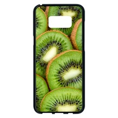 Sliced And Open Kiwi Fruit Samsung Galaxy S8 Plus Black Seamless Case by goodart