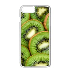Sliced And Open Kiwi Fruit Apple Iphone 8 Plus Seamless Case (white) by goodart