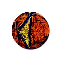 Cryptography Of The Planet 9 Rubber Coaster (round)  by bestdesignintheworld
