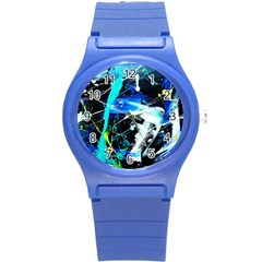 My Brain Reflecrion 1/1 Round Plastic Sport Watch (s) by bestdesignintheworld