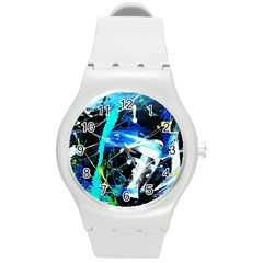 My Brain Reflecrion 1/1 Round Plastic Sport Watch (m) by bestdesignintheworld