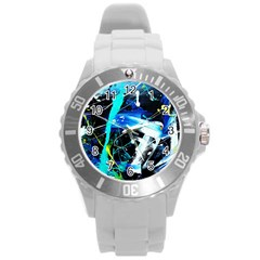 My Brain Reflecrion 1/1 Round Plastic Sport Watch (l) by bestdesignintheworld