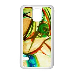 Girl In A Blue Tank Top Samsung Galaxy S5 Case (white) by bestdesignintheworld