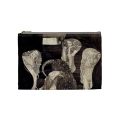 Jurisprudence   Gustav Klimt Cosmetic Bag (medium)  by Valentinaart