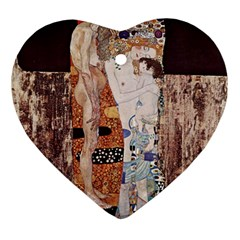 The Three Ages Of Woman  Gustav Klimt Ornament (heart)