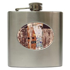 The Three Ages Of Woman  Gustav Klimt Hip Flask (6 Oz)