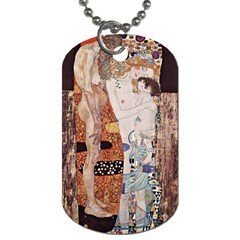 The Three Ages Of Woman  Gustav Klimt Dog Tag (two Sides) by Valentinaart