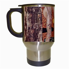 The Three Ages Of Woman  Gustav Klimt Travel Mugs (white) by Valentinaart
