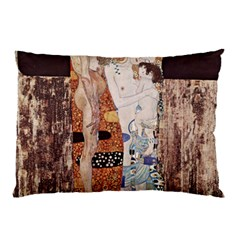 The Three Ages Of Woman  Gustav Klimt Pillow Case by Valentinaart