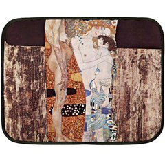 The Three Ages Of Woman  Gustav Klimt Fleece Blanket (mini) by Valentinaart