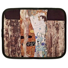 The Three Ages Of Woman  Gustav Klimt Netbook Case (xxl)  by Valentinaart