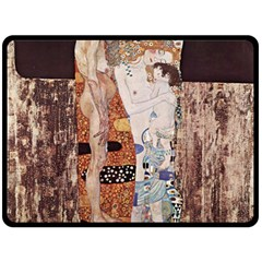 The Three Ages Of Woman  Gustav Klimt Fleece Blanket (large)  by Valentinaart