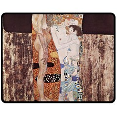The Three Ages Of Woman  Gustav Klimt Fleece Blanket (medium)  by Valentinaart