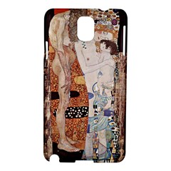 The Three Ages Of Woman  Gustav Klimt Samsung Galaxy Note 3 N9005 Hardshell Case by Valentinaart