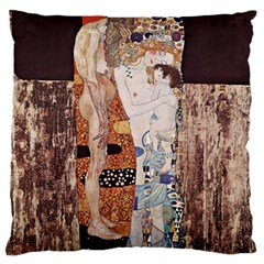 The Three Ages Of Woman  Gustav Klimt Standard Flano Cushion Case (two Sides) by Valentinaart