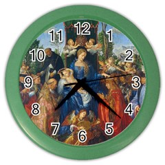 Feast Of The Rosary   Albrecht Dürer Color Wall Clocks by Valentinaart