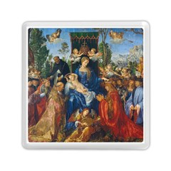 Feast Of The Rosary   Albrecht Dürer Memory Card Reader (square)  by Valentinaart