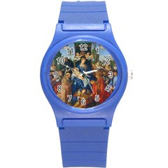 Feast Of The Rosary   Albrecht D¨1rer Round Plastic Sport Watch (s) by Valentinaart