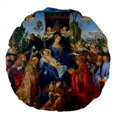 Feast Of The Rosary   Albrecht Dürer Large 18  Premium Flano Round Cushions