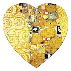 The Embrace   Gustav Klimt Jigsaw Puzzle (heart) by Valentinaart