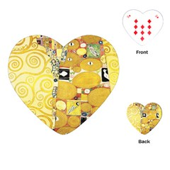 The Embrace   Gustav Klimt Playing Cards (heart)  by Valentinaart