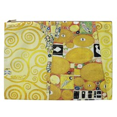 The Embrace   Gustav Klimt Cosmetic Bag (xxl)  by Valentinaart