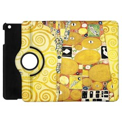 The Embrace   Gustav Klimt Apple Ipad Mini Flip 360 Case by Valentinaart