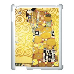The Embrace   Gustav Klimt Apple Ipad 3/4 Case (white) by Valentinaart