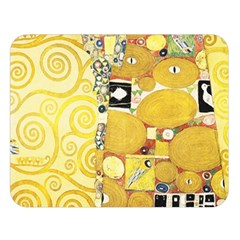 The Embrace   Gustav Klimt Double Sided Flano Blanket (large)  by Valentinaart