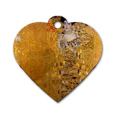 Adele Bloch Bauer I   Gustav Klimt Dog Tag Heart (one Side) by Valentinaart