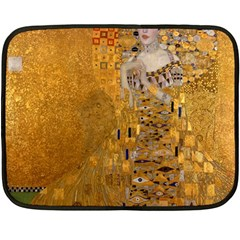 Adele Bloch Bauer I   Gustav Klimt Fleece Blanket (mini) by Valentinaart