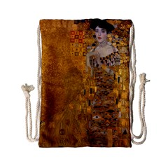 Adele Bloch Bauer I   Gustav Klimt Drawstring Bag (small) by Valentinaart