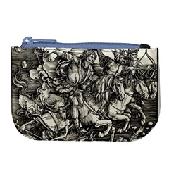 Four Horsemen Of The Apocalypse   Albrecht Dürer Large Coin Purse by Valentinaart
