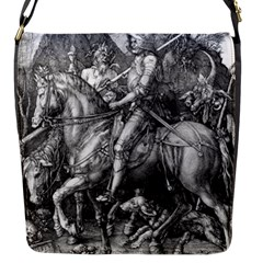 Death And The Devil   Albrecht Dürer Flap Messenger Bag (s) by Valentinaart