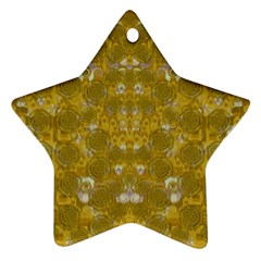 Golden Stars In Modern Renaissance Style Ornament (star) by pepitasart