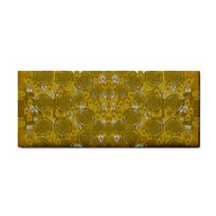 Golden Stars In Modern Renaissance Style Hand Towel by pepitasart