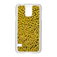 Sunflower Head (helianthus Annuus) Hungary Felsotold Samsung Galaxy S5 Case (white) by goodart